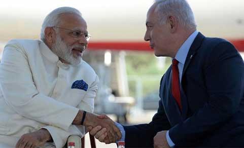 Narendra Modi with Netanyahu